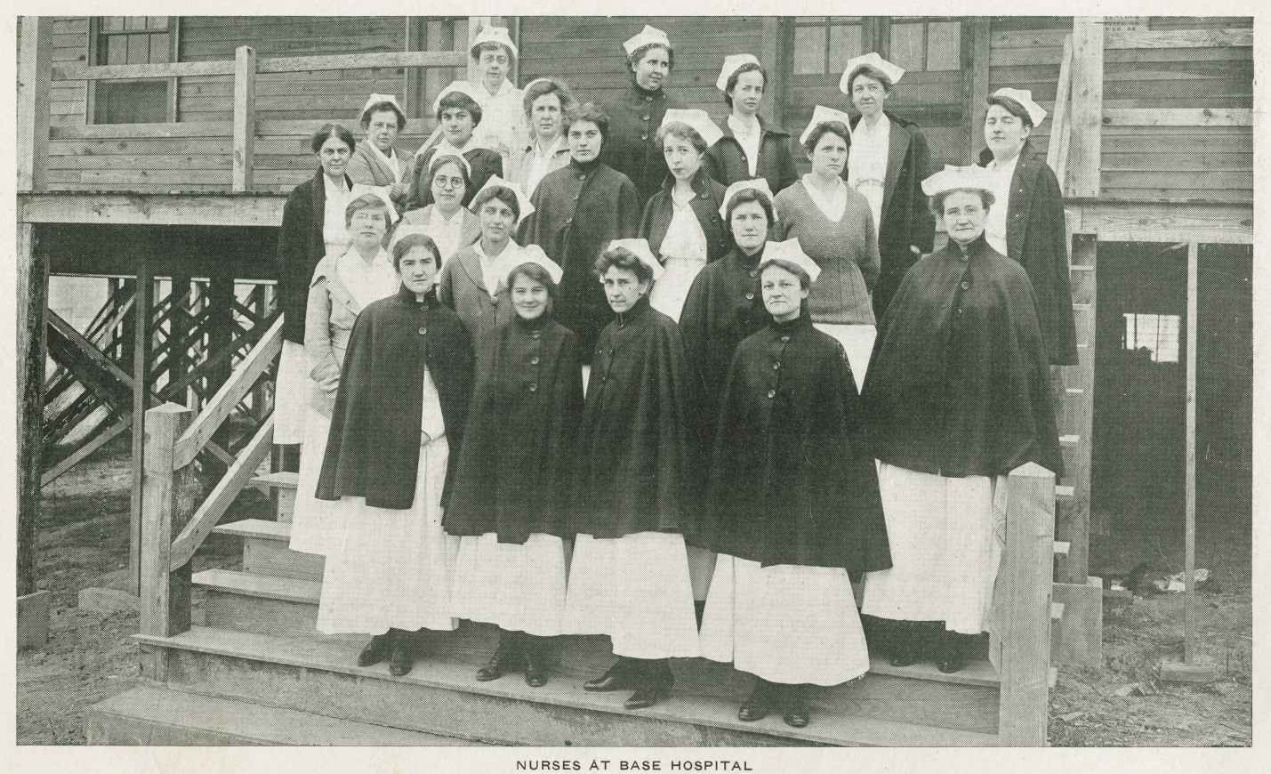 Camp Sevier nurses at base hospital (1917), courtesy of Greenville County Library System