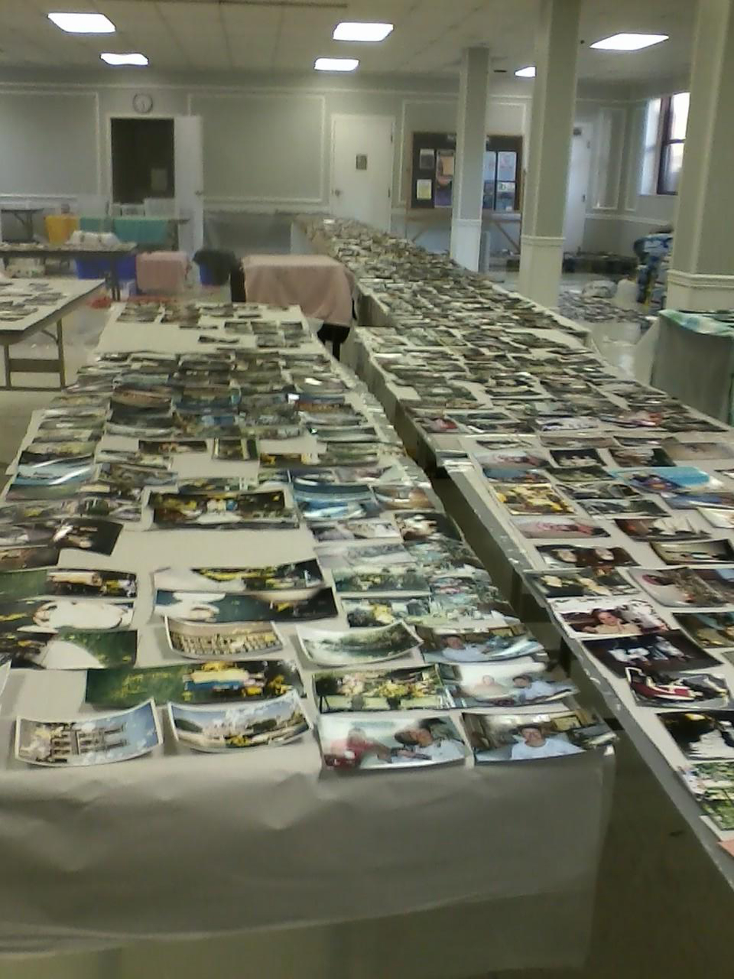 Photographs that were damaged during severe weather were stored at Shandon Presbyterian Church
